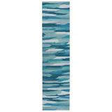 Highland Dunes Theriot Abstract Handmade Tufted Turquoise Indoor/Outdoor Area Rug Polyester in Blue, Size 24.0 W x 0.37 D in | Wayfair