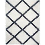 Gracie Oaks Rectangle Jaclyn Geometric Ivory RugPolyester in Black, Size 69.0 H x 45.0 W x 1.5 D in   Wayfair 8AD89412A63540B5A70536523F432490