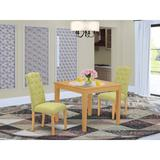 Winston Porter Potton 3 Piece Solid Wood Dining Set Wood/Upholstered Chairs in White, Size 30.0 H in   Wayfair 05E629D718F54E7C892A2978AABC1865