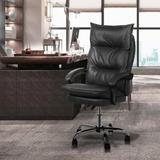 Latitude Run® Lowellville Patacas Ergonomic Executive Chair Upholstered in Black, Size 44.5 H x 26.0 W x 20.0 D in   Wayfair