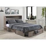 Pyper Marketing LLC Genoa Cabinet Bed w/ Queen Mattress Wood in Brown, Size 64.0 W x 83.0 D in | Wayfair MUR-POP-QEN-BDR-COM
