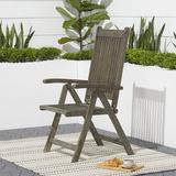 Beachcrest Home™ Delcastillo Folding Patio Dining Chair Wood in Brown, Size 41.14 H x 21.57 W x 25.0 D in | Wayfair