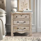 Kelly Clarkson Home 3 - Drawer Nightstand Wood in White, Size 29.0 H x 28.0 W x 16.0 D in | Wayfair 24157785CCD74F19A35AE2F0D0E7A176