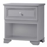 Three Posts™ Baby & Kids Essex 1 Drawer Nightstand in Gray, Size 25.3 H x 23.6 W x 15.5 D in | Wayfair 40A93D3CA64A487A9108BAAAE336DA5F
