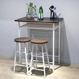 17 Stories Clitherall 3 - Piece Counter Height Dining Set Wood/Metal in White, Size 35.5 H in | Wayfair 349A5EAFA07F48FE98C9AD5243139D57