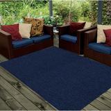 Latitude Run® Runner Abstract Braided Navy Indoor/Outdoor Area Rug Polypropylene in Blue/Navy, Size 120.0 H x 120.0 W x 0.5 D in | Wayfair