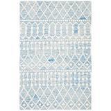Union Rustic Kimber Handmade Tufted Wool Blue/Ivory Rug Wool in White, Size 0.31 D in | Wayfair F01697CF17BB470AA7050C1EDD7C3EC3