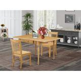 Ophelia & Co. Colrain Drop Leaf Solid Wood Dining Set Wood in Black, Size 30.0 H in   Wayfair D56F0ED2AC2544708C7A10F929A11CA6