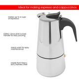 Symple Stuff Sheri Espresso Maker in Brown/Gray, Size 6 Cups   Wayfair EM00250