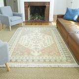 Dakota Fields Lyford Oriental Cotton Pink/Beige Area Rug Cotton in Brown/Pink, Size 84.0 H x 31.0 W x 0.04 D in   Wayfair