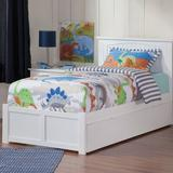 Harriet Bee Abbie Extra Long Twin Standard Bed w/ Trundle Wood in White, Size 41.375 H x 43.625 W x 82.625 D in | Wayfair