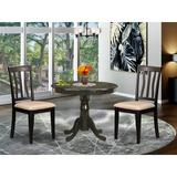 Andover Mills™ Artin Solid Wood Dining Set Wood in Brown, Size 29.0 H in   Wayfair 5A1E84A792474851B23FF4DCD4D4DCB3