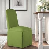 Kelly Clarkson Home Ava Traditional Upholstered Skirted Side ChairPolyester/Polyester blend/Upholstered/Fabric in Green | Wayfair DBHM4167 41979750