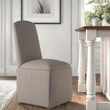 Kelly Clarkson Home Ava Traditional Upholstered Skirted Side ChairPolyester/Polyester blend/Upholstered/Fabric in Gray | Wayfair DBHM4168 41979758