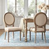 Kelly Clarkson Home Kathlene Upholstered King Louis Back Side Chair Upholstered/Fabric in White, Size 39.0 H x 20.0 W x 24.0 D in | Wayfair