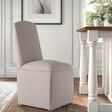 Kelly Clarkson Home Ava Traditional Upholstered Skirted Side ChairPolyester/Polyester blend/Upholstered/Fabric in Gray | Wayfair DBHM4167 41979752