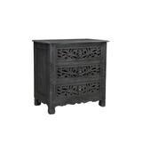 Kelly Clarkson Home Harleen 3 Drawer Nightstand Wood in Black, Size 30.0 H x 30.0 W x 17.0 D in   Wayfair 07E6761AA9234D88BB3E6D41B2395AF9