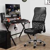 Latitude Run® Daxtin High Back Mesh Task Chair Wood/Upholstered/Mesh in Black, Size 47.5 H x 25.0 W x 22.6 D in | Wayfair