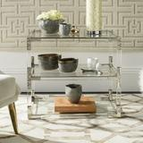 Mercer41 Barthes Floor Shelf End Table Wood in Green/Yellow/Brown, Size 25.99 H x 28.0 W x 20.0 D in | Wayfair WRLO5710 40710015