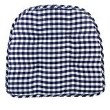 August Grove® Non-Slip Indoor Chair Cushion Polyester/Polyester blend in Blue, Size 2.0 H x 16.0 W in | Wayfair 9083F8E84A234C5B84A7C1D9FDC2BB71