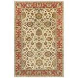 Surya Pazyryk Hand-Knotted Beige Area Rug Wool in Orange/White, Size 108.0 H x 72.0 W x 0.39 D in | Wayfair PZY1002-69