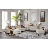 Surya Desiree Hand-Knotted Gray/Beige Area Rug Viscose/Wool in White, Size 36.0 H x 24.0 W x 0.374 D in | Wayfair DSR1001-23