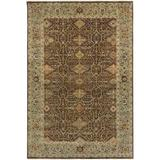 Surya Pazyryk Hand-Knotted Brown Area Rug Wool in White, Size 36.0 H x 24.0 W x 0.63 D in | Wayfair PZY1000-23