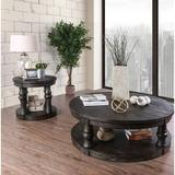 Birch Lane™ Anner Farmhouse 2 Piece Coffee Table Set Wood in Gray, Size 18.0 H x 48.5 W in   Wayfair 4973F366AEED4CCD9831BD8A3D9CCBE7