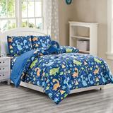 Zoomie Kids Dargan 4 Piece Toddler Bedding Set Polyester in Blue/Green, Size Twin   Wayfair 4986A86FFDD94CA1A4D274161926D153