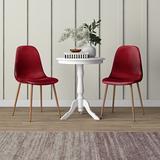 Corrigan Studio® Sunningdale Upholste Side Chair Faux Leather/Upholste in Red, Size 34.0 H x 17.0 W x 21.0 D in | Wayfair ME05 Bordeaux (Set of 4)