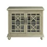 """Three Posts™ Miya 2 Door Accent Cabinet, Wood in Silver/White/Black, Size Standard (24-42"""")   Wayfair X115254162"""