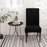 Latitude Run® Spandex Stretch Banquet Party Box Cushion Dining Chair Slipcover Microfiber/Microsuede, Size 21.0 H x 8.5 W x 13.0 D in   Wayfair