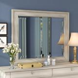Birch Lane™ Deonte Traditional/Farmhouse/Country Beveled Dresser Mirror Wood in White, Size 39.0 H x 46.0 W x 1.75 D in | Wayfair