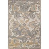 Bungalow Rose Solveg Floral Hand-Hooked Wool Cream/Medium Gray Area RugWool in White, Size 36.0 H x 24.0 W x 0.2 D in   Wayfair BGRS1975 42376188