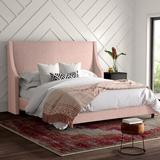 Mercury Row® Bernadine Upholstered Low Profile Standard Bed Upholstered/Metal in Black, Size 77.0 W in   Wayfair 27EFC68314584780844DF5DDEA3E7991