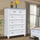 Rosecliff Heights Remer 5 Drawer ChestWood in Black/Brown, Size 51.18 H x 36.6 W x 16.9 D in | Wayfair 9F7D550F11AB477E9A7C3E0419947AF0