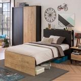 Latitude Run® Dilanas Solid Wood Storage Bed Wood in Black, Size 44.0 H x 56.0 W x 77.0 D in | Wayfair 3F8C1FCB1FF74B2D93BC7A3AB980B9E2