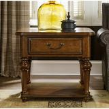Hooker Furniture Tynecastle End Table Wood in Brown, Size 25.0 H x 28.0 W x 28.0 D in | Wayfair 5323-80115