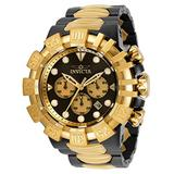 Invicta Men's Excursion Quartz Watch with Stainless Steel Strap, Black, Gold, 31.3 (Model: 32377)