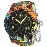 Invicta Men's Russian Diver Quartz Watch with Stainless Steel Strap, Silver, Aqua Plating, 26 (Model: 34490)