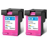 Remanufactured Ink Cartridge Replacement for Hp 675XL High Yield Compatible With Officejet 4000 4400 4575 -K710a 4500 Advantage-K710gr Printer 1 Black 1 Tri-Color 2 Tri-Color