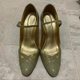 J. Crew Shoes | J.Crew Mary Jane Patent Leather Heels | Color: Gray | Size: 7.5