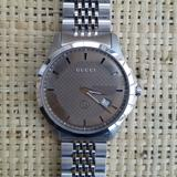 Gucci Accessories   New Men'S Gucci 126 Lg Stainless Steel Watch   Color: Silver/Tan   Size: 42mm (1.6)