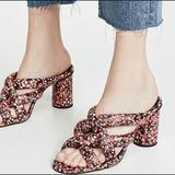 Rebecca Minkoff Shoes | Rebecca Minkoff Red High Heel Slide Sandals Sz 8 | Color: Black/Red | Size: 8
