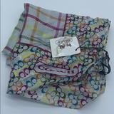 Coach Accessories | Coach Tattersall Neck Scarf (Authentic) | Color: Gray/Pink | Size: Os