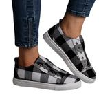 Heli Women's Sneakers Black - Black & White Plaid Slip-On Sneaker - Women