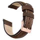 Ritche 18mm Leather Watch Band Quick Release Watch Bands for Men Women Compatible with Fossil Gen 4 Venture HR/Timex Expedition Metal Field 39mm / Huawei Watch/Garmin Vivoactive (3S/4S)Watch Strap