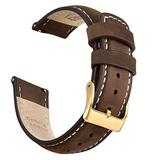 Ritche 22mm Leather Watch Band Quick Release Watch Bands for Men Women Compatible with Fossil Gen 5 Carlyle/Timex Expedition Rugged Metal 45mm / Citizen AW1361-10H / Garmin Vivoactive 4 Watch Strap