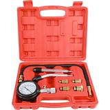 Sutekus 300PSI Engine Compression Tester Kit Cylinder Pressure Test Gauge Automotive Tool Gauge with Adapters