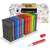 Hethrone Dry Erase Marker - Bulk Pack of 60 With 12 Assorted Colors, Whiteboard Markers With Chisel Tip, Office Supplies for School Or Home